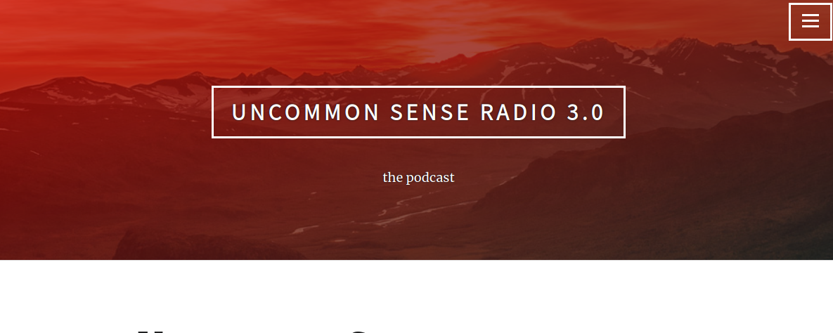 link to Uncommon Sense Radio